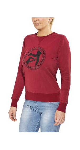 ÖTillÖ French Terry Peached Crew Neck Sweatshirt Women Burgundy